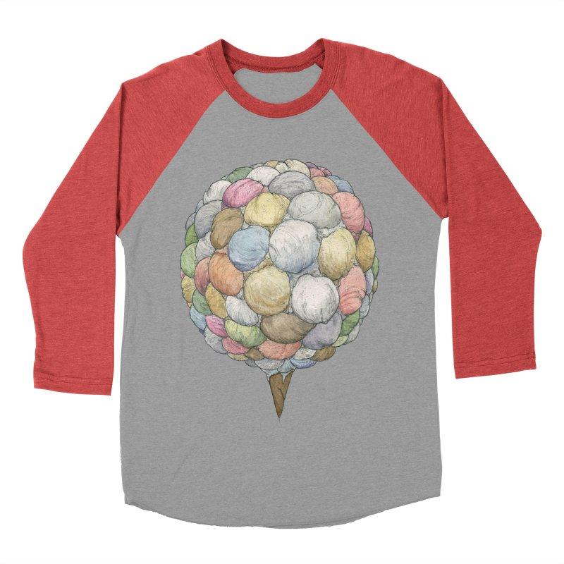 Ice Creams Cone Women's Baseball Triblend Longsleeve T-Shirt by Scott Teplin's Chazerai Bazaar