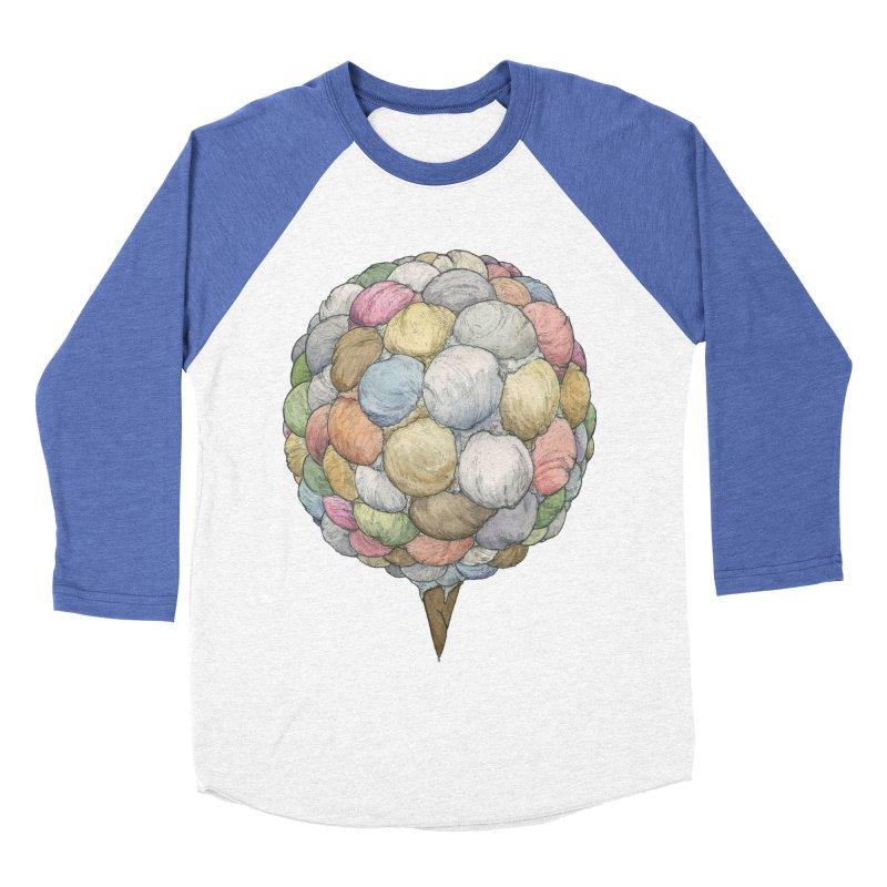Ice Creams Cone Men's Baseball Triblend Longsleeve T-Shirt by Scott Teplin's Chazerai Bazaar