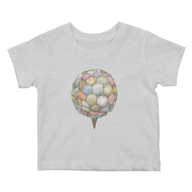 Ice Creams Cone Kids Baby T-Shirt by Scott Teplin's Chazerai Bazaar