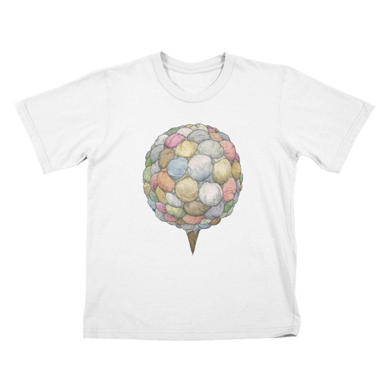 Ice Creams Cone Kids T-Shirt by Scott Teplin's Chazerai Bazaar