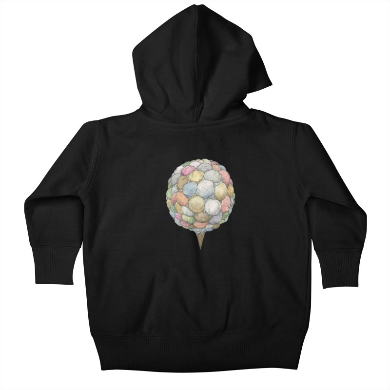 Ice Creams Cone Kids Baby Zip-Up Hoody by Scott Teplin's Chazerai Bazaar