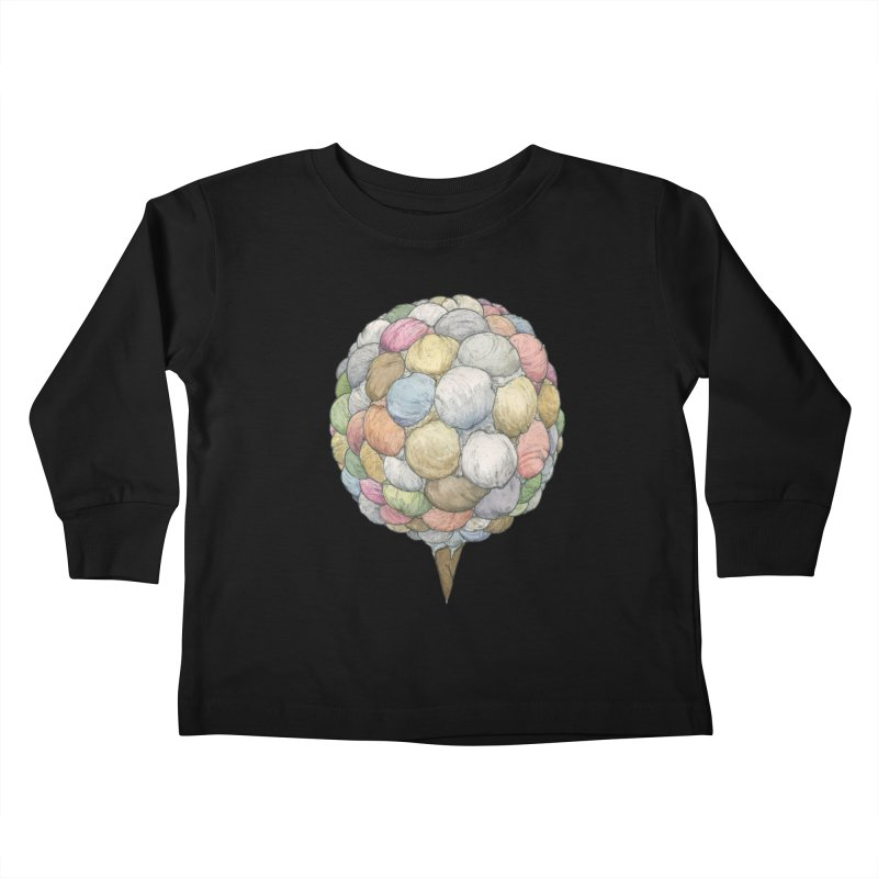 Ice Creams Cone Kids Toddler Longsleeve T-Shirt by Scott Teplin's Chazerai Bazaar