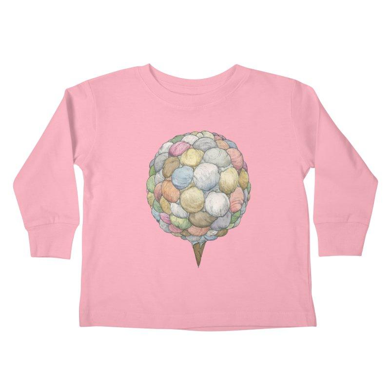 Ice Creams Cone Kids Toddler Longsleeve T-Shirt by Scott Teplin's Chazerai Bazaar