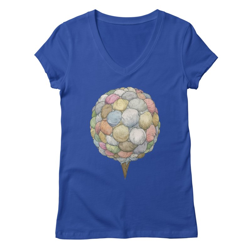 Ice Creams Cone Women's Regular V-Neck by Scott Teplin's Chazerai Bazaar
