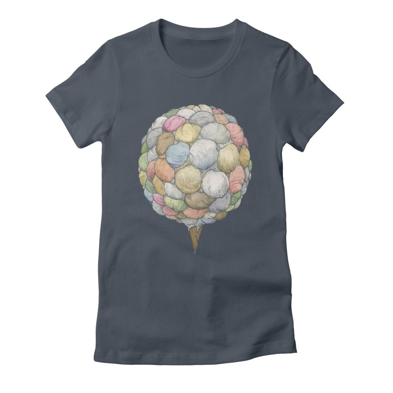 Ice Creams Cone Women's Fitted T-Shirt by Scott Teplin's Chazerai Bazaar