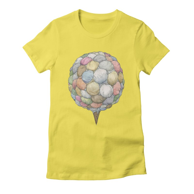 Ice Creams Cone Women's Fitted T-Shirt by Scott Teplin's Chazerai Bazaar