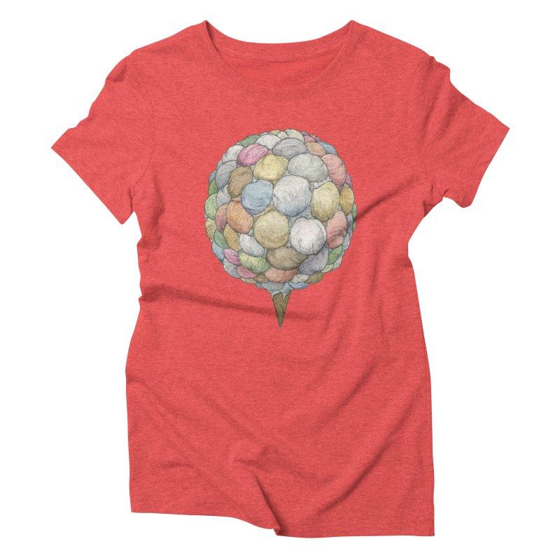 Ice Creams Cone Women's Triblend T-Shirt by Scott Teplin's Chazerai Bazaar