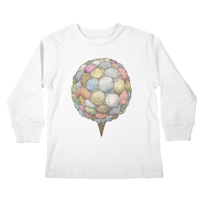 Ice Creams Cone Kids Longsleeve T-Shirt by Scott Teplin's Chazerai Bazaar