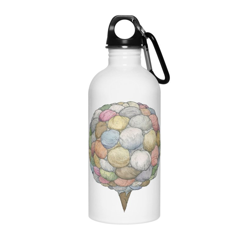 Ice Creams Cone Accessories Water Bottle by Scott Teplin's Chazerai Bazaar