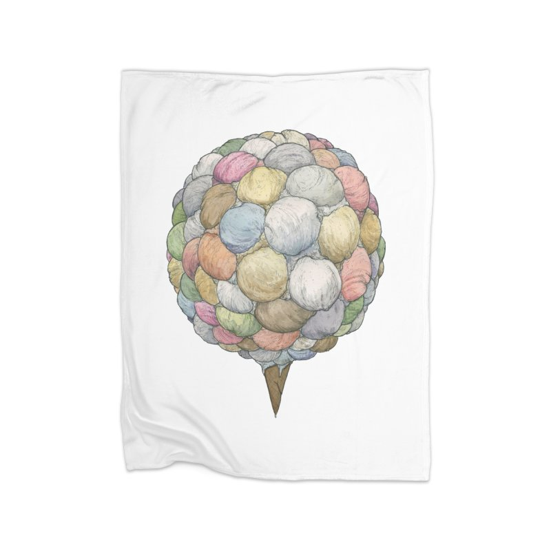 Ice Creams Cone Home Blanket by Scott Teplin's Chazerai Bazaar