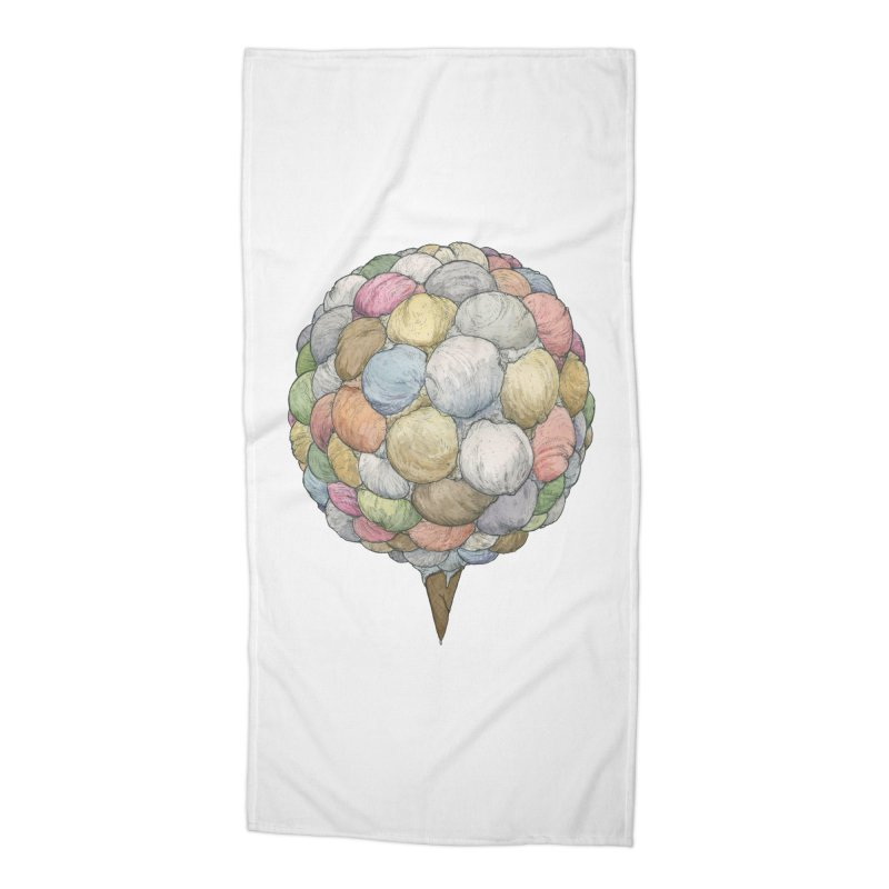 Ice Creams Cone Accessories Beach Towel by Scott Teplin's Chazerai Bazaar