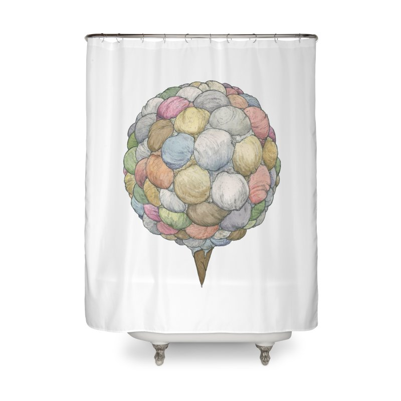 Ice Creams Cone Home Shower Curtain by Scott Teplin's Chazerai Bazaar
