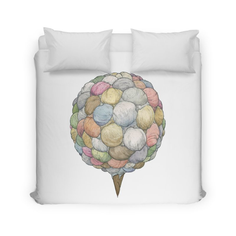 Ice Creams Cone Home Duvet by Scott Teplin's Chazerai Bazaar