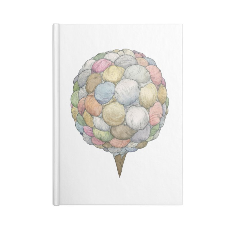 Ice Creams Cone Accessories Notebook by Scott Teplin's Chazerai Bazaar