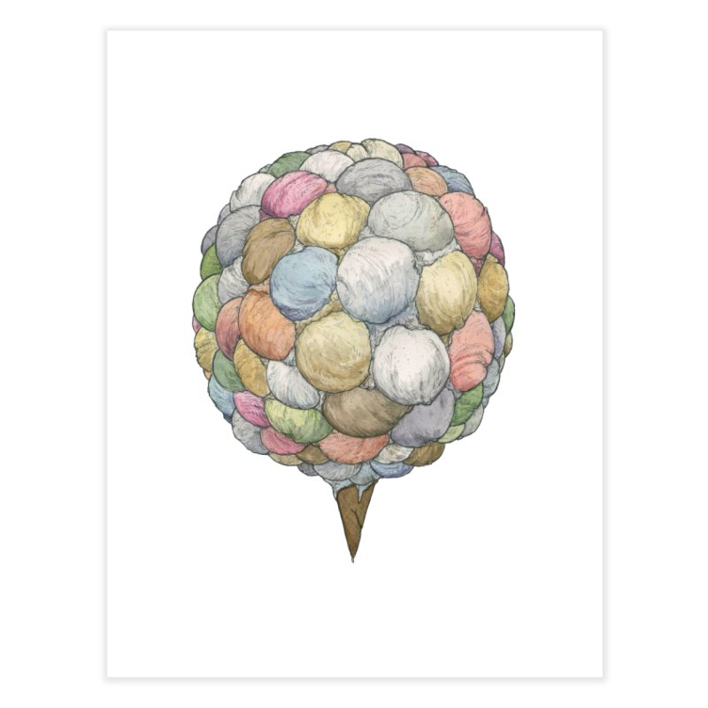 Ice Creams Cone Home Fine Art Print by Scott Teplin's Chazerai Bazaar