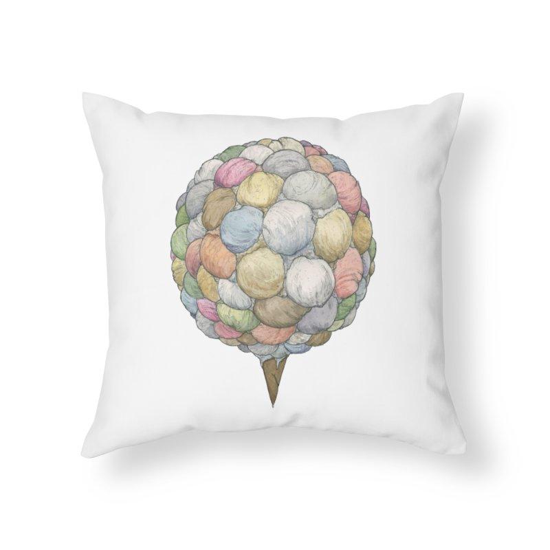 Ice Creams Cone Home Throw Pillow by Scott Teplin's Chazerai Bazaar
