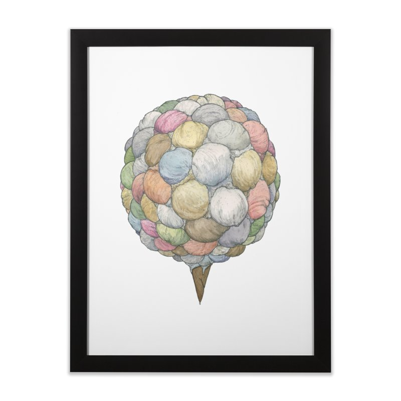 Ice Creams Cone Home Framed Fine Art Print by Scott Teplin's Chazerai Bazaar