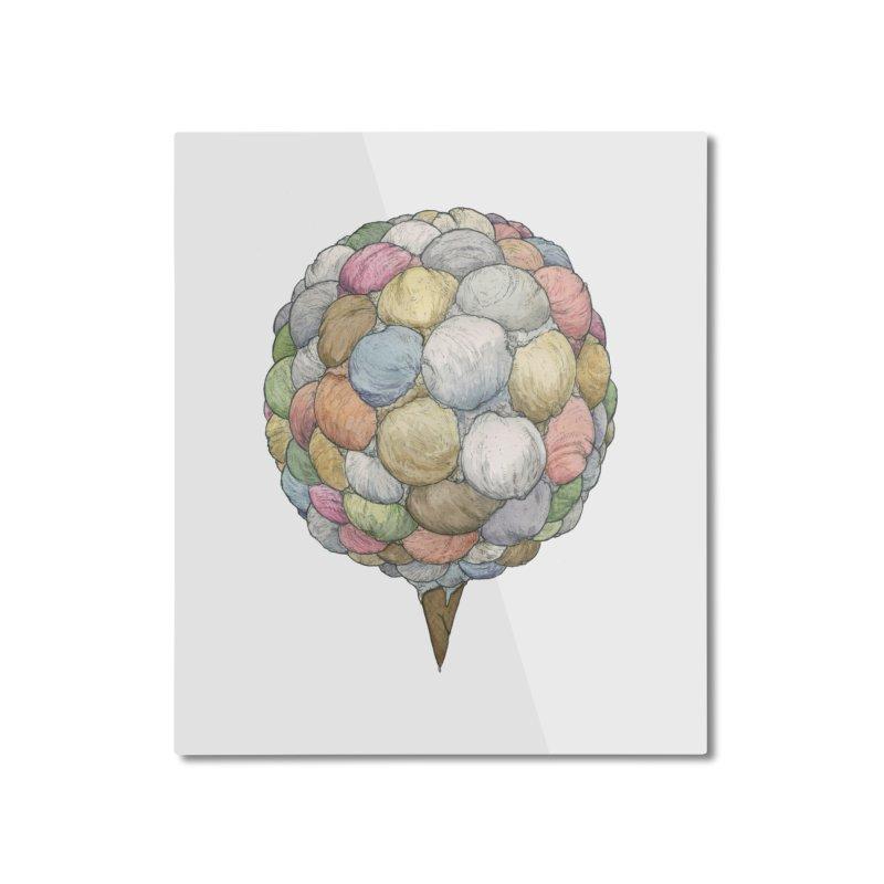 Ice Creams Cone Home Mounted Aluminum Print by Scott Teplin's Chazerai Bazaar