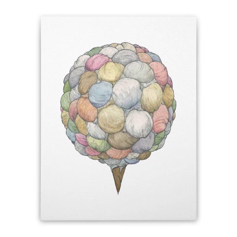 Ice Creams Cone Home Stretched Canvas by Scott Teplin's Chazerai Bazaar