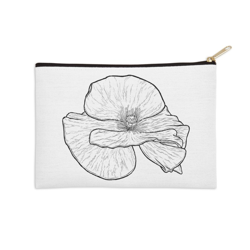 POPPY lines Accessories Zip Pouch by Scott Teplin's Chazerai Bazaar