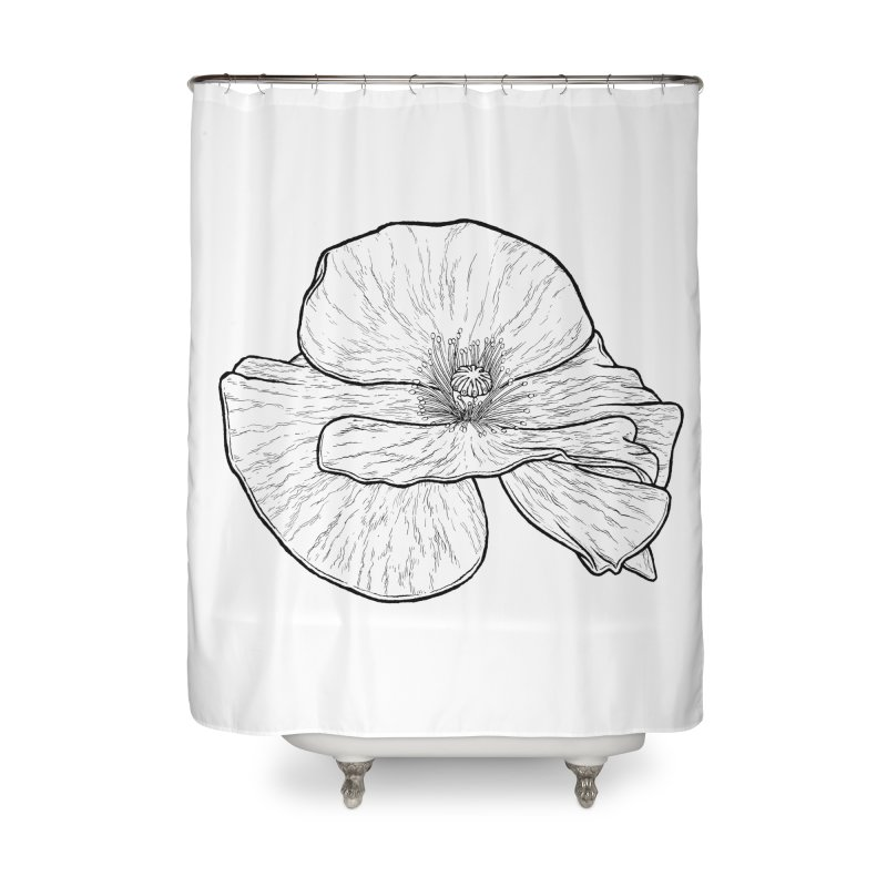 POPPY lines Home Shower Curtain by Scott Teplin's Chazerai Bazaar