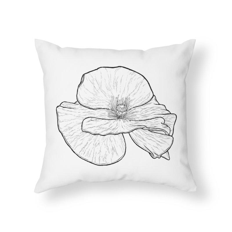 POPPY lines Home Throw Pillow by Scott Teplin's Chazerai Bazaar