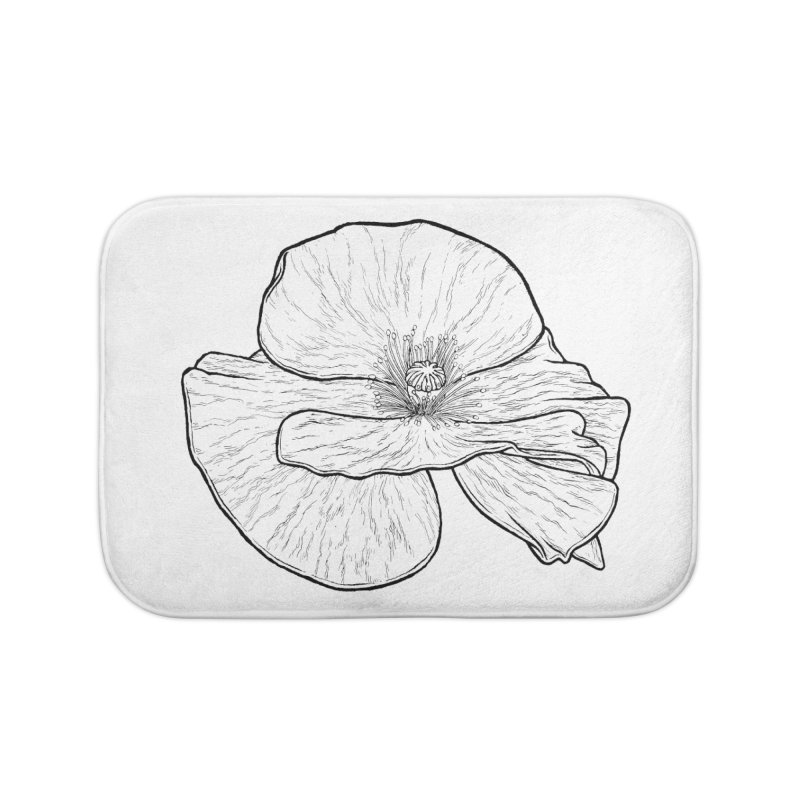 POPPY lines Home Bath Mat by Scott Teplin's Chazerai Bazaar
