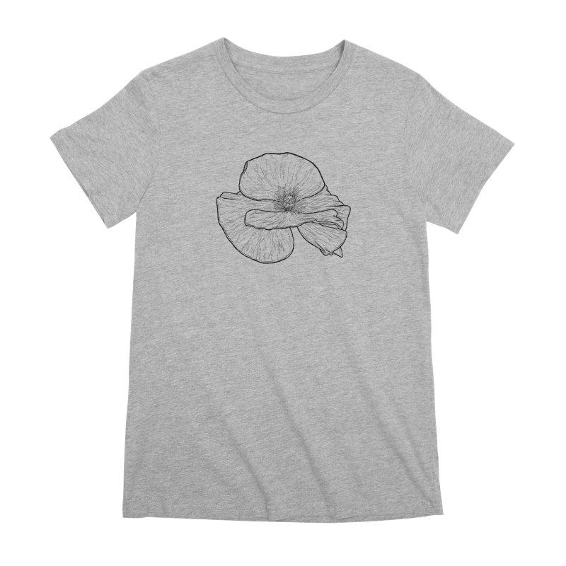POPPY lines Women's Premium T-Shirt by Scott Teplin's Chazerai Bazaar
