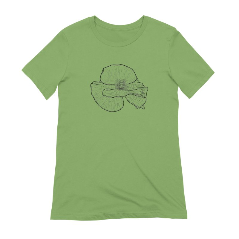 POPPY lines Women's Extra Soft T-Shirt by Scott Teplin's Chazerai Bazaar