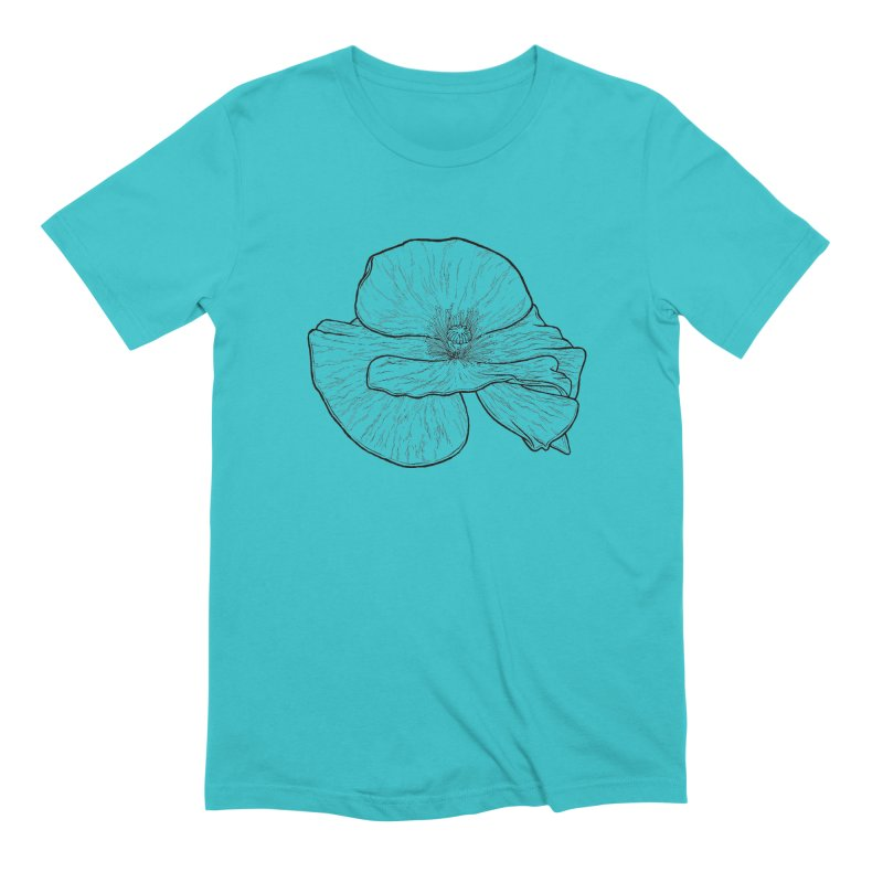 POPPY lines Men's Extra Soft T-Shirt by Scott Teplin's Chazerai Bazaar