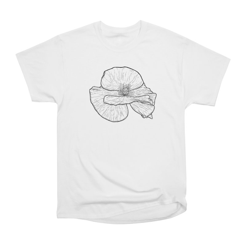 POPPY lines Women's Heavyweight Unisex T-Shirt by Scott Teplin's Chazerai Bazaar