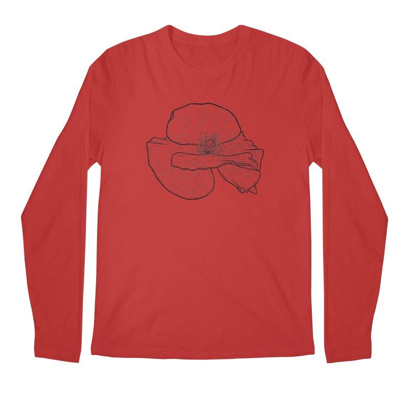 POPPY lines Men's Regular Longsleeve T-Shirt by Scott Teplin's Chazerai Bazaar