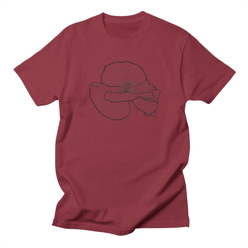POPPY lines Women's Regular Unisex T-Shirt by Scott Teplin's Chazerai Bazaar