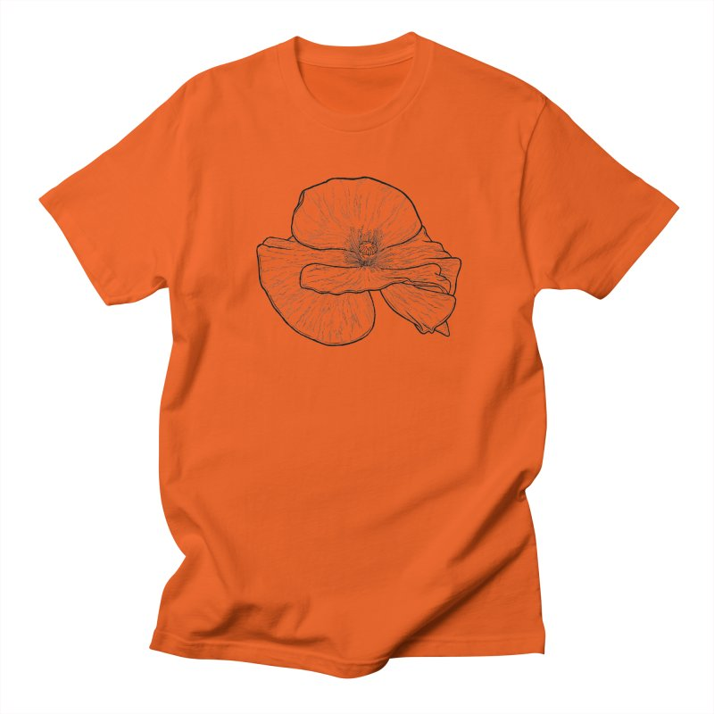 POPPY lines Men's Regular T-Shirt by Scott Teplin's Chazerai Bazaar