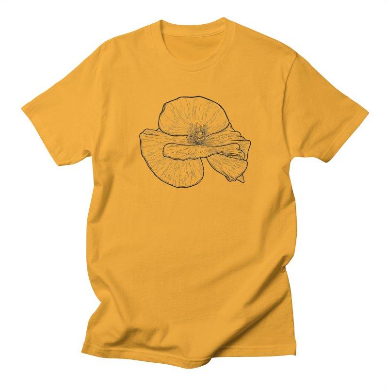 POPPY lines Women's Regular Unisex T-Shirt by Scott Teplin's Chazerai Bazaar