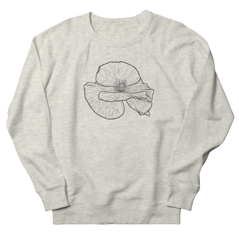 POPPY lines Women's French Terry Sweatshirt by Scott Teplin's Chazerai Bazaar