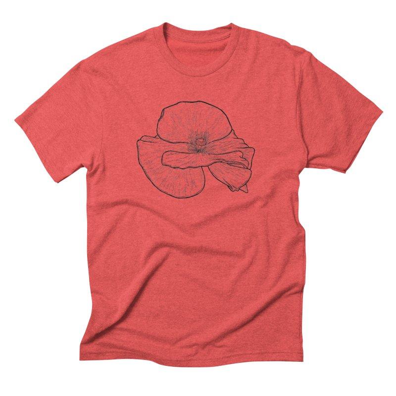 POPPY lines Men's Triblend T-Shirt by Scott Teplin's Chazerai Bazaar