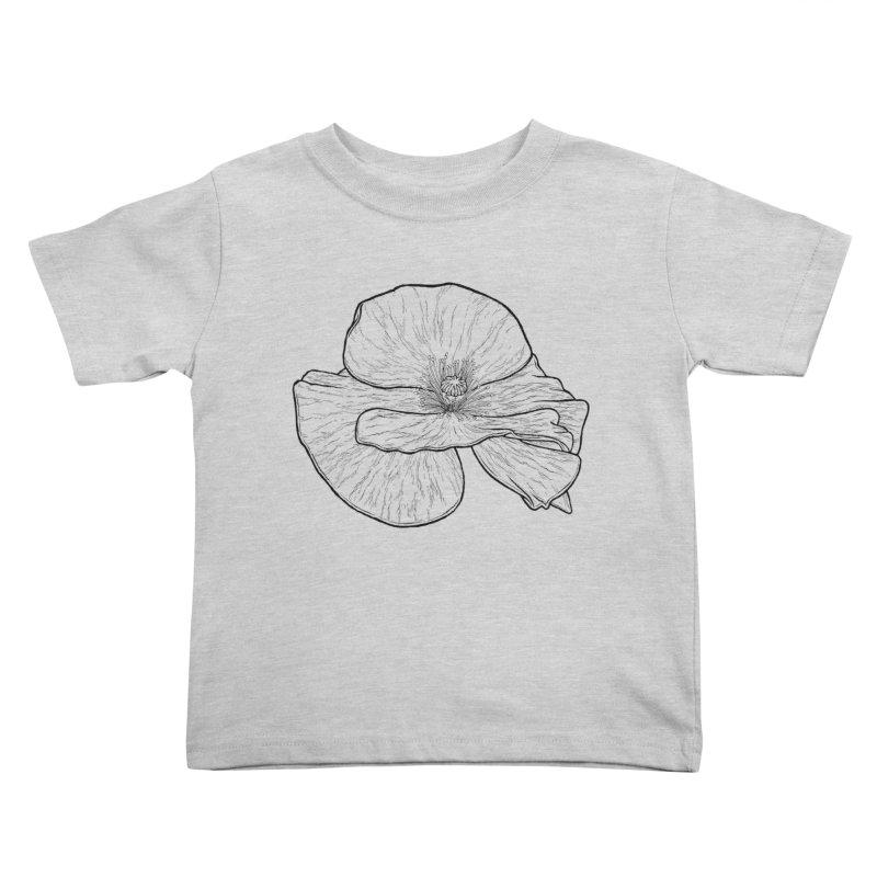 POPPY lines Kids Toddler T-Shirt by Scott Teplin's Chazerai Bazaar