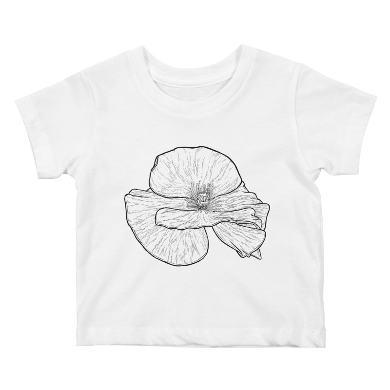 POPPY lines Kids Baby T-Shirt by Scott Teplin's Chazerai Bazaar