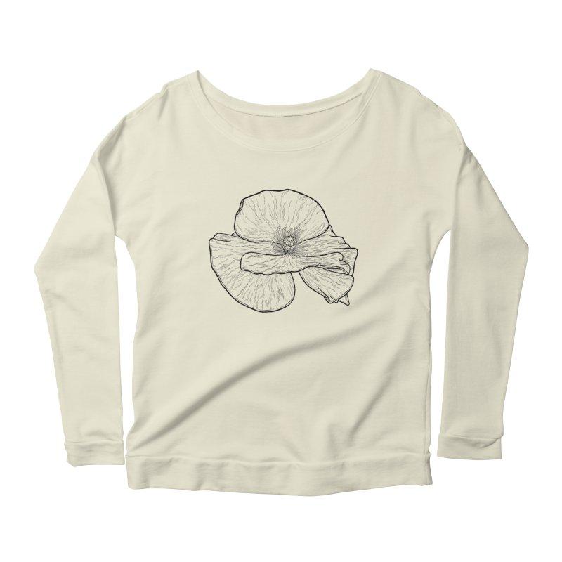 POPPY lines Women's Scoop Neck Longsleeve T-Shirt by Scott Teplin's Chazerai Bazaar
