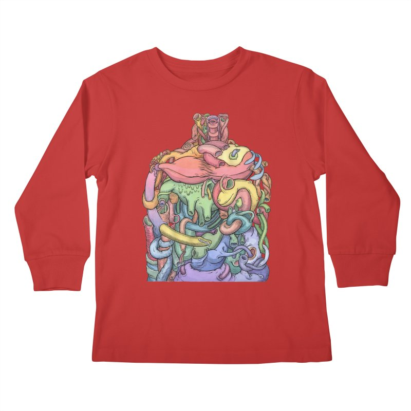 How Stuff Doesn't Really Work Kids Longsleeve T-Shirt by Scott Teplin's Chazerai Bazaar