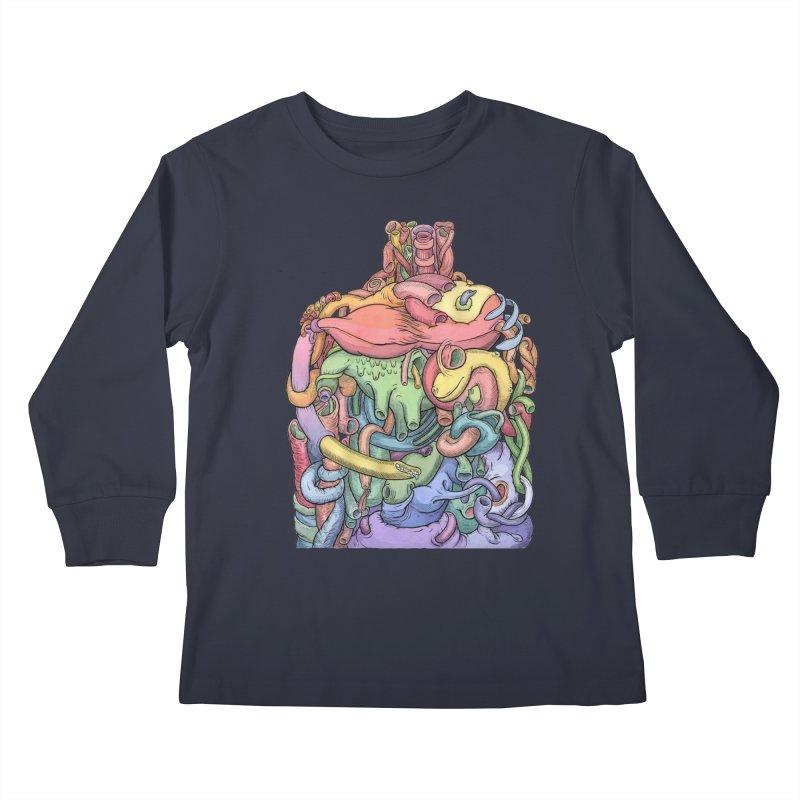 How Stuff Doesn't Really Work Kids Longsleeve T-Shirt by Scott Teplin's Chazerai Bazaar