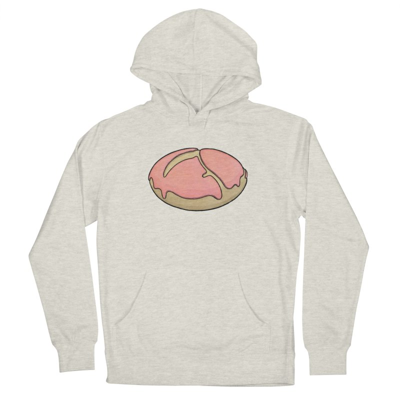 Grim Reaper (strawberry frosted) Donut Men's French Terry Pullover Hoody by Scott Teplin's Chazerai Bazaar