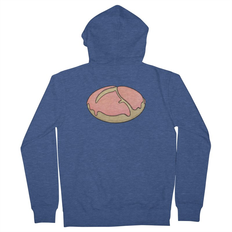 Grim Reaper (strawberry frosted) Donut Women's French Terry Zip-Up Hoody by Scott Teplin's Chazerai Bazaar