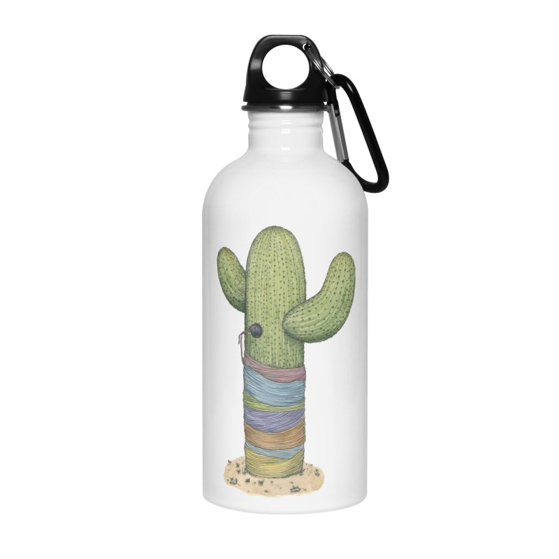 Cactus Yarn Accessories Water Bottle by Scott Teplin's Chazerai Bazaar