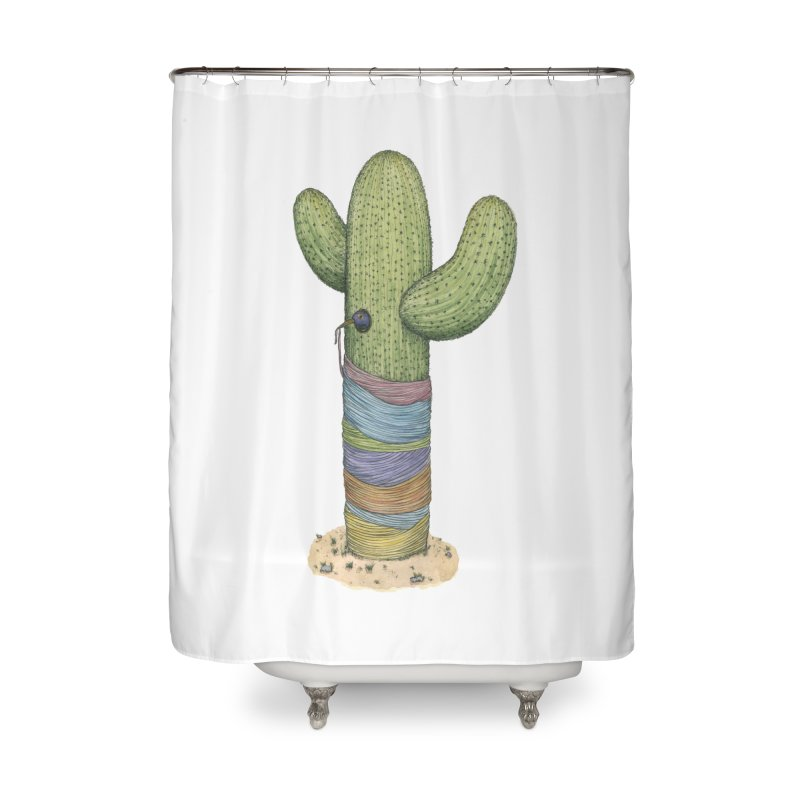 Cactus Yarn Home Shower Curtain by Scott Teplin's Chazerai Bazaar
