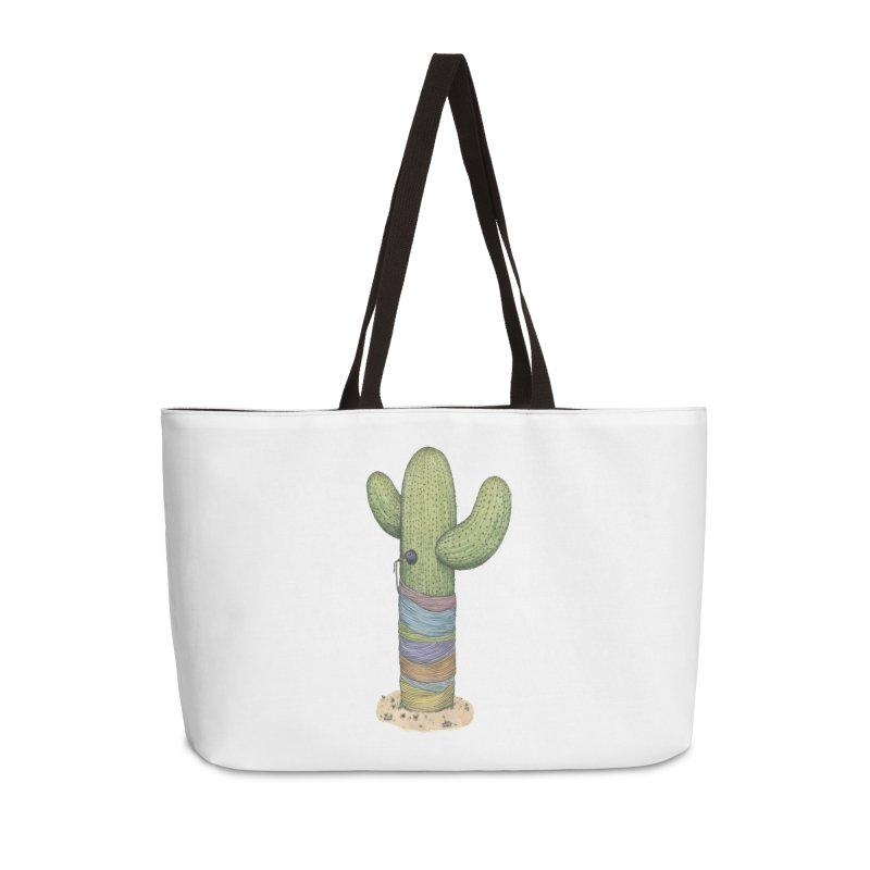 Cactus Yarn Accessories Weekender Bag Bag by Scott Teplin's Chazerai Bazaar