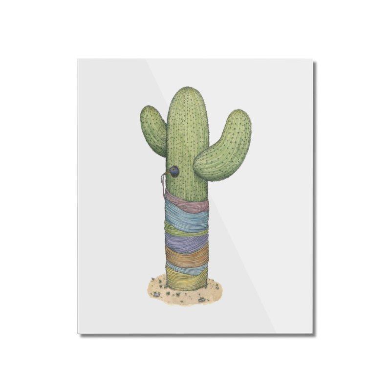 Cactus Yarn Home Mounted Acrylic Print by Scott Teplin's Chazerai Bazaar