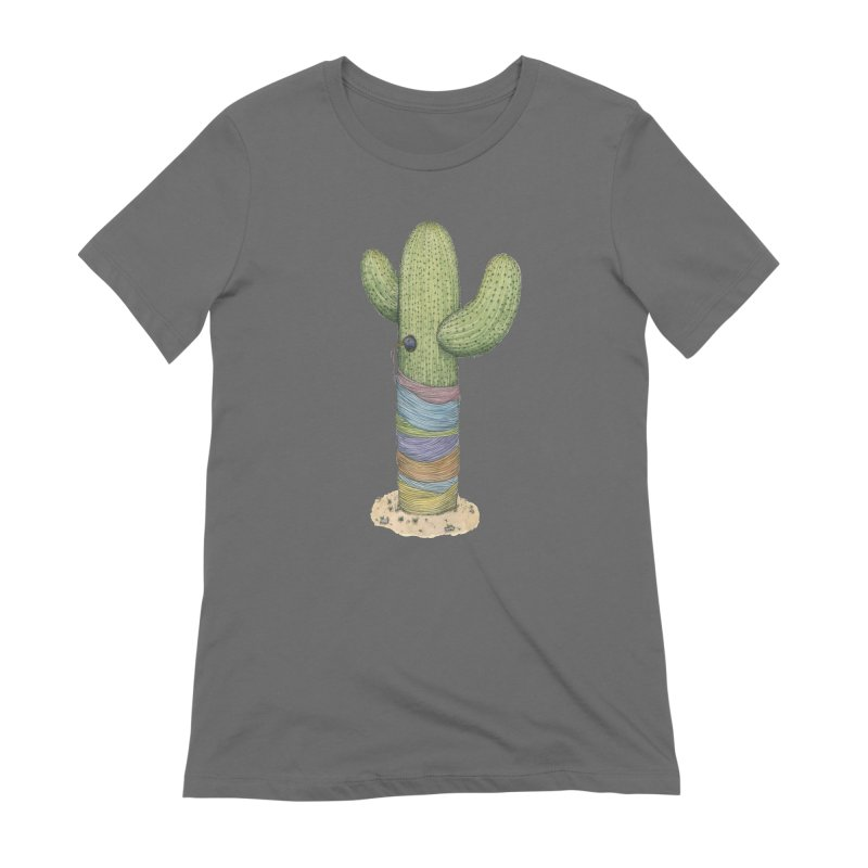 Cactus Yarn Women's Extra Soft T-Shirt by Scott Teplin's Chazerai Bazaar