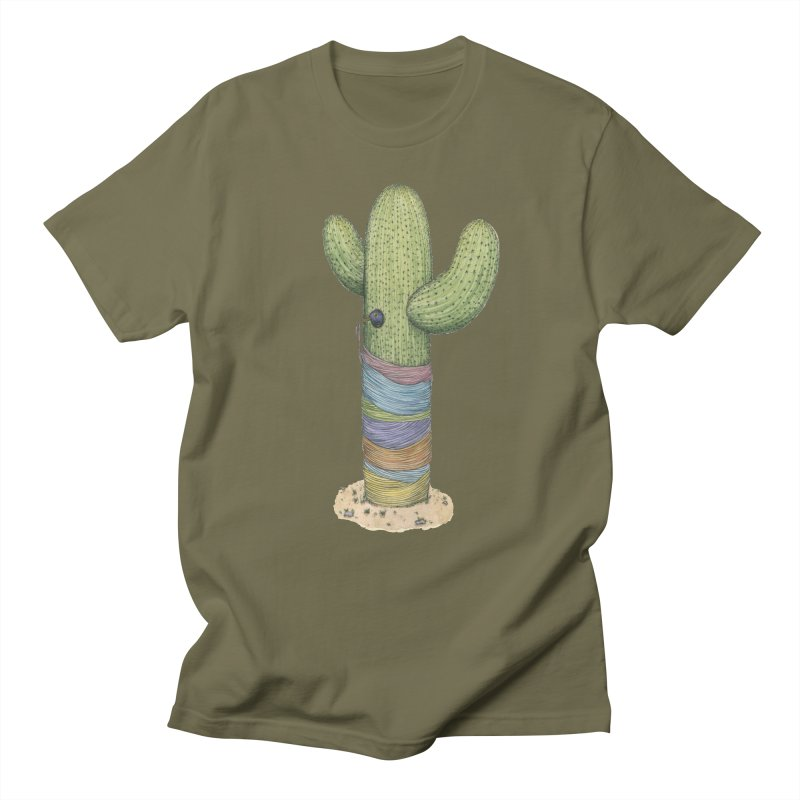 Cactus Yarn Men's Regular T-Shirt by Scott Teplin's Chazerai Bazaar